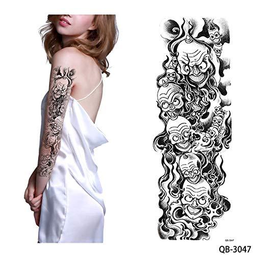 adgkitb 2 stücke Tattoo-Aufkleber Mädchen Beten Design Volle Blume Arm Body Art QB 3047 46x17 cm