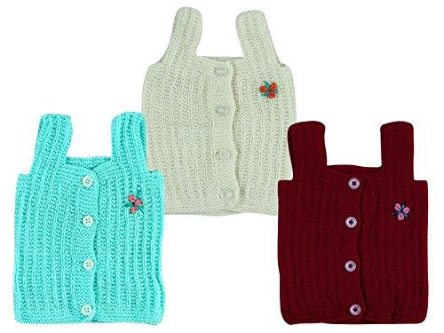 Montu Bunty Wear Baby Boy's Woollen Essential Vest (Ovesttinimini1) - Pack Of 3