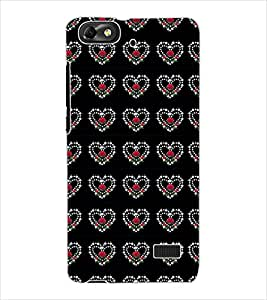 ColourCraft Heart Pattern Design Back Case Cover for HUAWEI G PLAY MINI