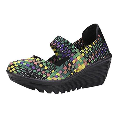 Mocasines Zapatos no Tejidos de Mujer, Calzado Deportivo Transpirable de otoño elástico Alpargatas...