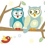Selbstklebende Bordüre Kinder Wald & Vögel Funny Forest