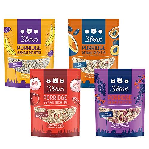 3Bears Porridge Fruchtiges 4er-Paket - (4 x 400g)...
