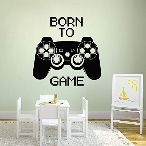 WWYJN Game Wall Decal Game Controller Wall Art Sticker Player Gift Home Boy Room Decoration Detachable Game Wall Mural red 75x75cm