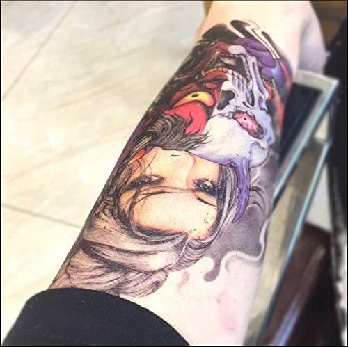 ruofengpuzi Farbe Geisha Blume Arm Tattoo Aufkleber Wasserdicht Dauerhafte Männer Und Frauen Ghost Head Simulation Tattoo Arm Concealer Ins Wind Geisha Halloween-make-up