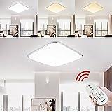 Hengda® 24W LED Deckenleuchte Dimmbar Fernbedienung Lichtfarbe und Helligkeit einstellbar Moderne Esszimmer Deckenbeleuchtung Badezimmer geeignet