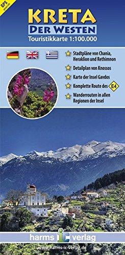 Kreta Touristikkarte 1:100.000: Der Westen (Touristikkarten Kreta 1:100.000) (Ic-weste)