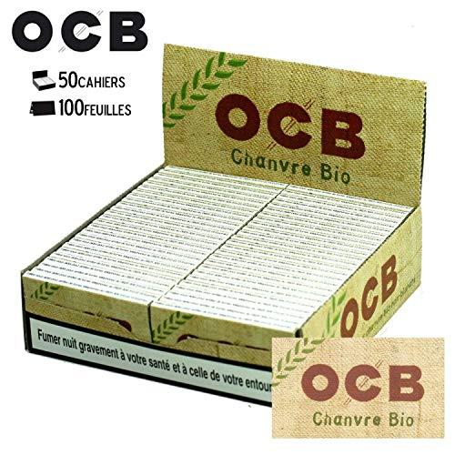 OCB Organic Hemp Cartine Corte, Canapa Biologica, Confezione da 50 Blocchetti da 50 Cartine