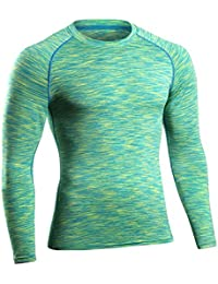 Tee Shirt de Sport Thermique T-Shirt à Manches Longues Haut de Compression Base Laye Pour Homme