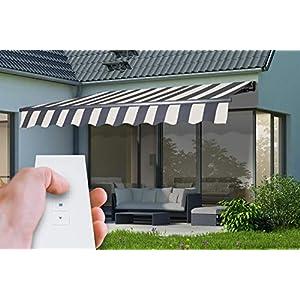 empasa Elektrische Gelenkarmmarkise Markise Sonnenmarkise Sonnenschutz, Verschiedene Größen und Farben