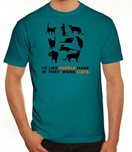 Tier Katzen Herren T-Shirt mit Cats are better Motiv von ShirtStreet Diva