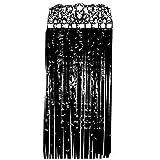 Halloween Türvorhang Friedhof Lang Plastik Garn Vorhang Gruselig 170Cm X 90Cm - Schwarz
