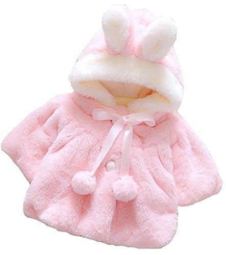 Baby Mädchen Warme Wintermantel Winterjacke Kinder Prinzessin Lace Jacke dicken Mantel Rosa Weiß
