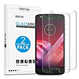 Moto Z2 Play Screen Protector [2-Pack] - OMOTON Tempered Glass Screen Protector for Moto Z2 Play 5.5