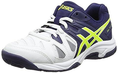 Asics Gel-Game 5 GS, Chaussures de Tennis Mixte Enfant, Blanc