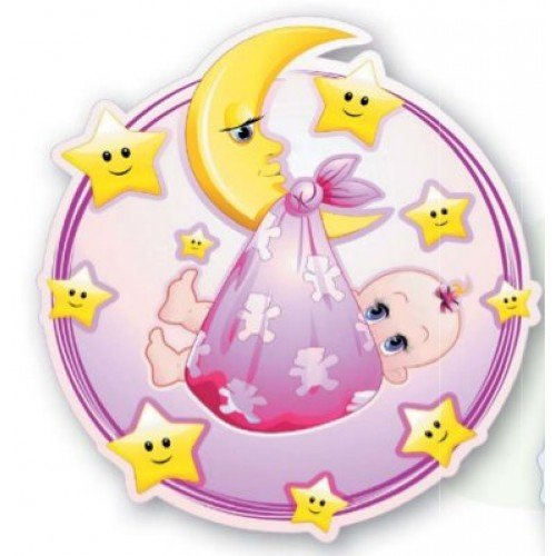 9 Stück Muffinaufleger Muffinfoto Aufleger Foto Bild Geburt/Taufe Mädchen rund ca. 6 cm *NEU*OVP*
