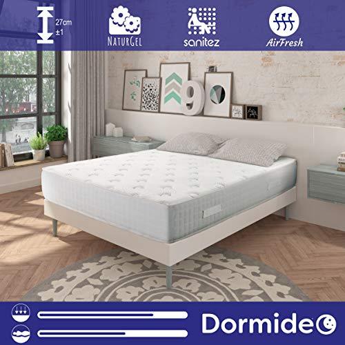 DORMIDEO - Colchón Viscoelástico City Luxury - Fibras ecológicas Cashmere, Antibacterias,...