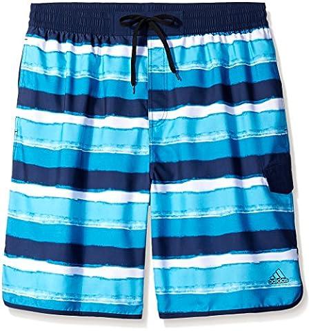 Adidas Men's Big & Tall Stripe Swim Trunk Volley de