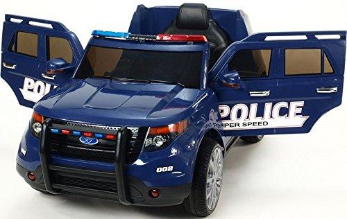 Coche Policía Todoterreno FBI 12v Coche eléctrico Infantil - Azul