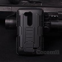 LG L Fino / LG G2 Lite Carcasa, Cocomii® [HEAVY DUTY] LG L Fino / LG G2 Lite Robot Case **NUEVO** [ULTRA FUTURO ARMOR] Premium Funda Con Clip Para Cinturón Pata De Cabra Kickstand Bumper Case [DEFENSOR MILITAR] De Todo El Cuerpo Híbrido Doble Capa Resistente Cubierta Protectora Cover Bumper Case [COCOMII GARANTÍA] ::: La Mejor Protección Frente A Caídas Y Las Repercusiones De Su LG L Fino, LG G2 Lite, D290, D295 ::: ★★★★★ (Black/Black)