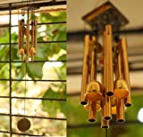 #10: Paradigm Originals Feng Shui items for Home Decoration Wind Chimes For Home Positive Energy For Balcony Bedroom (Golden, 8 pipe 4 brass bells)