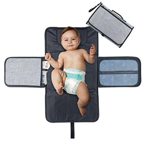 Urinal-tasche (Idefair tragbar Wickelunterlage, wasserdicht Wickelunterlage mit Kopfpolster, Taschen, zusammenklappbar Infant Urinal Pad Baby Wickelunterlage Kit für Home Reisen Außerhalb)