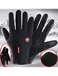 DreamPalace India Fashion Warm Cycling Riding Winter Gloves (Large, Black)