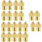 ELEPHANTBOAT® 22Pieces 3D Printer Extruder Nozzle MK8 for Makerbot Creality CR-10 7 Different Size 0.2 mm, 0.3 mm, 0.4 mm, 0.5 mm, 0.6 mm, 0.8 mm, 1.0 mm