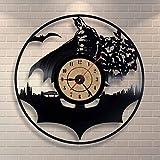 Best Conception avec Vinyl cadeaux pour les familles - WALIZIWEI Horloge Murale Vinyl Batman Design Moderne Chambre Review