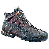 La Sportiva Hyper Mid GTX, Gore-Tex Trekking-, Berg- und Wanderschuhe, Unisex, Farbe black/red, Größe EU 42 (UK 9)