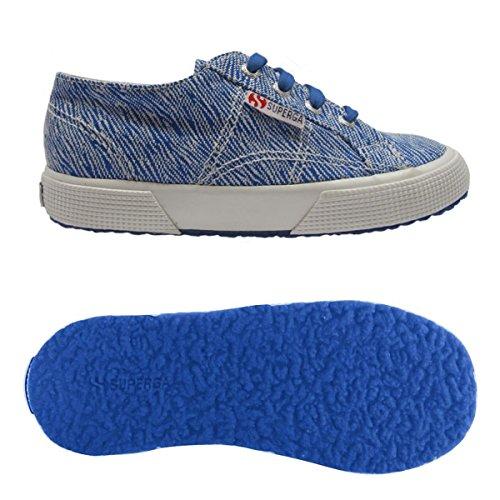 Superga - 2750 Fabric Bt201614j, Pantofole Unisex – Bambini Blau (blue lt. FUXIA)