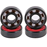 PREESPORTS 1PC/5PCS/8PCS/10PCS 608 Ceramic Ball Inline Speed Bearing For Finger Spinner Skateboard Drift Plate (10 Pcs)