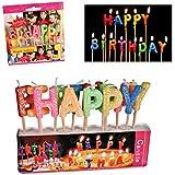 """Velas del feliz cumpleaños """"HAPPY BIRTHDAY"""" - en forma de carta de decoración de la torta"""