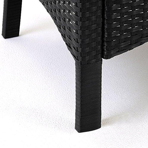 Polyrattan Sitzgruppe 8+1 Tisch aus Akazienholz Gartenmöbel Lounge Gartenset Sitzgarnitur Rattan - 8