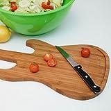 E-Gitarre Schneidebrett aus Bambus - Gitarre Küchenbrett Guitar Hackbrett Kochen Arbeitsplatte aus Bambus