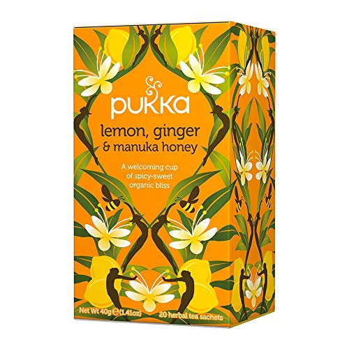 Pukka - Bio-Tee Zitrone-Ingwer-Honig - 20Bt/40g  - Manuka-honig Süßen