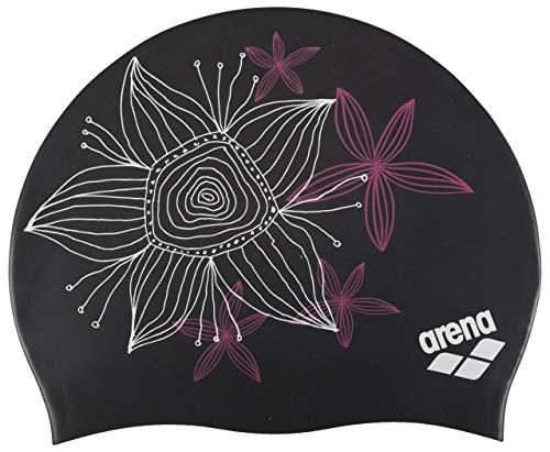 arena 91440-26-NS Sirene Molded Silicone Badekappe Handdraw/Black