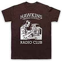 Stranger Things Hawkins Middle School Radio Club Herren T-Shirt