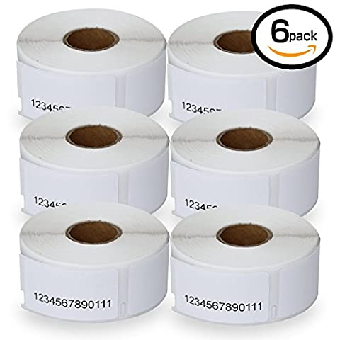 6 Rolls Dymo 11355 Compatible 19mm x 51mm Small Multipurpose Labels