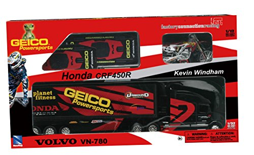 coffret-camion-new-ray-1-32-volvo-vn-geico-honda-kevin-windham-avec-moto