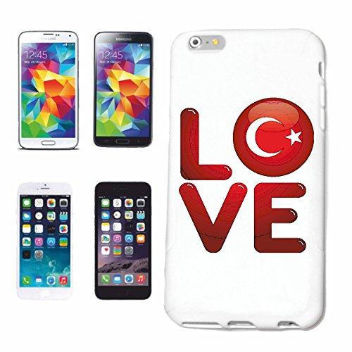 """Preisvergleich Produktbild Handyhülle Huawei P9 """"I LOVE TÜRKEI ICH LIEBE DIE TÜRKEI SIDE ANTALYA ISMIR ISTANBUL URLAUB URLAUBSZIEL"""" Hardcase Schutzhülle Handycover Smart Cover für Huawei P9 in Weiß"""