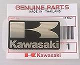 TOUT NEUF 100% Authentique Original KAWASAKI ' K ' Mark Autocollant NOIR / ARGENT 42mm x 24mm