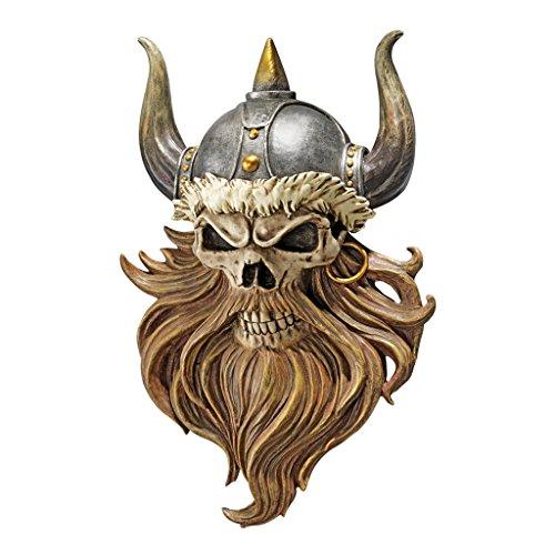 Progettazione Toscano CL5827 Il cranio di Walhalla Viking Warrior Decalcomanie da muro