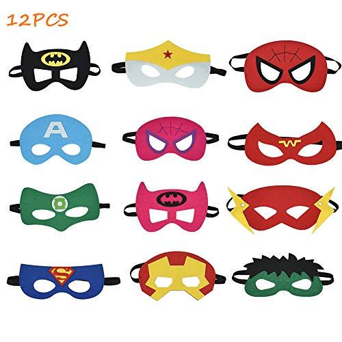 Sasonco Augen Masken Halbmasken Kinder Masken Kindergeburstagen Mitgebsel Superhelden Masken Super Masken ()
