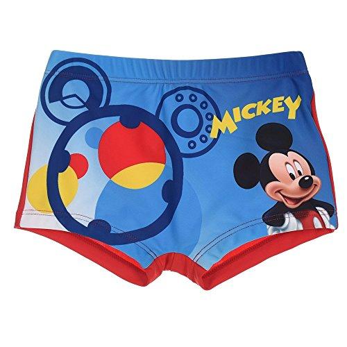 Costume mare topolino mickey mouse disney parigamba pantaloncino neonato bambino taglie 12/36 mesi - er0061rosso