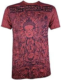 Mirror Camiseta Hombre Elefante Psicodélico Talla M L XL Mariposa Espíritu Hinduismo Budismo Yoga Ganesha