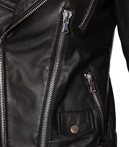 BE EDGY Damen Lederjacke Gipsy Bikerjacke Jacke Leder – Leder – schwarz black XS - 3