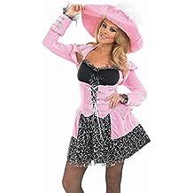 Piratas Disfraz Rosa–Disfraz Soltero para Carnaval Color Rosa, tallas S–XXXL kostuem, despedidas Disfraz, carnaval Disfraz,, pequeño