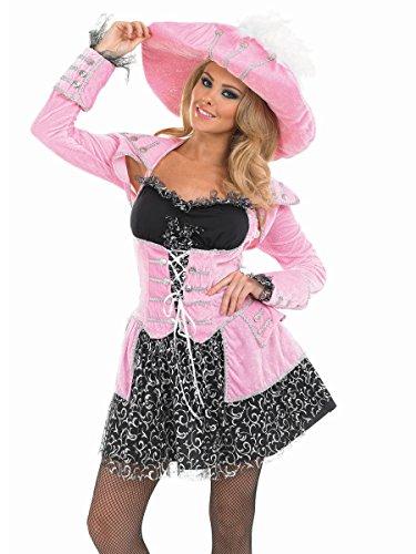 Piraten Kostüm Rosa - Junggesellenabschied Fasching Karneval Faschingskostüm rosa Gr. S - XXXL Kostuem, Junggesellenkostüm, Karnevalskostüm, (Frauen Kostüme Home Piraten)