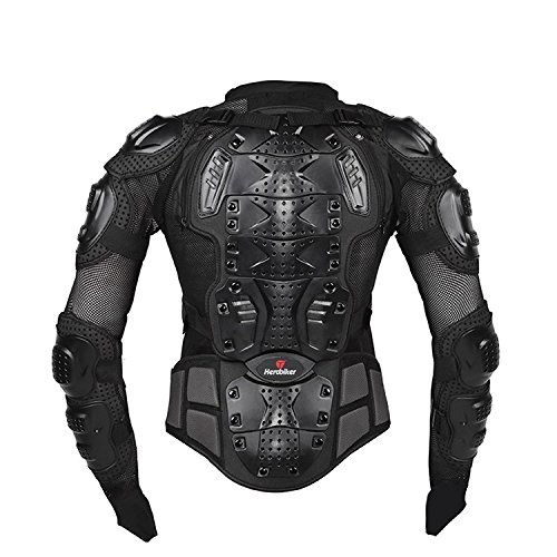 Mesh-motorrad-jacke (Misika Motorrad Fahrrad Protektoren Jacke Schutzkleidung Schutzjacke Schwarz/Rot M L XL XXL XXXL)