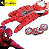 Zest 4 Toyz Spiderman Gloves With Disc Launcher For Real Action - Red